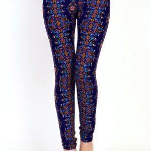 Ethnic Blue/Purple leggings